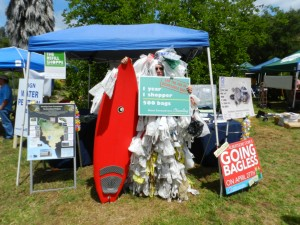 The Bagmonster appears at Ojai Earth Day in 2011. Credit: S. Iverson
