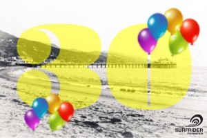 Surfrider Foundation 30th anniversary logo with balloons added