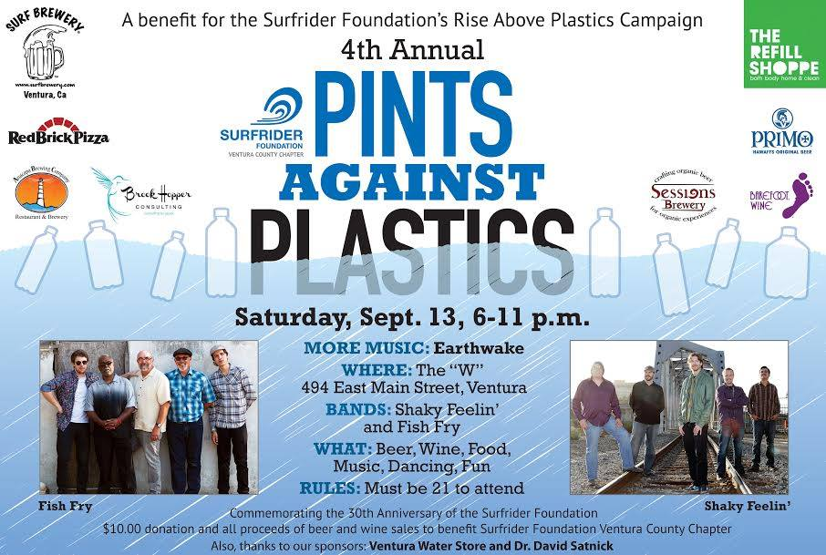 Pints Against Plastics promotional poster for 2014