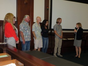 Members of the chapter's Executive Committee receive the award from Mayor Cheryl Heitmann